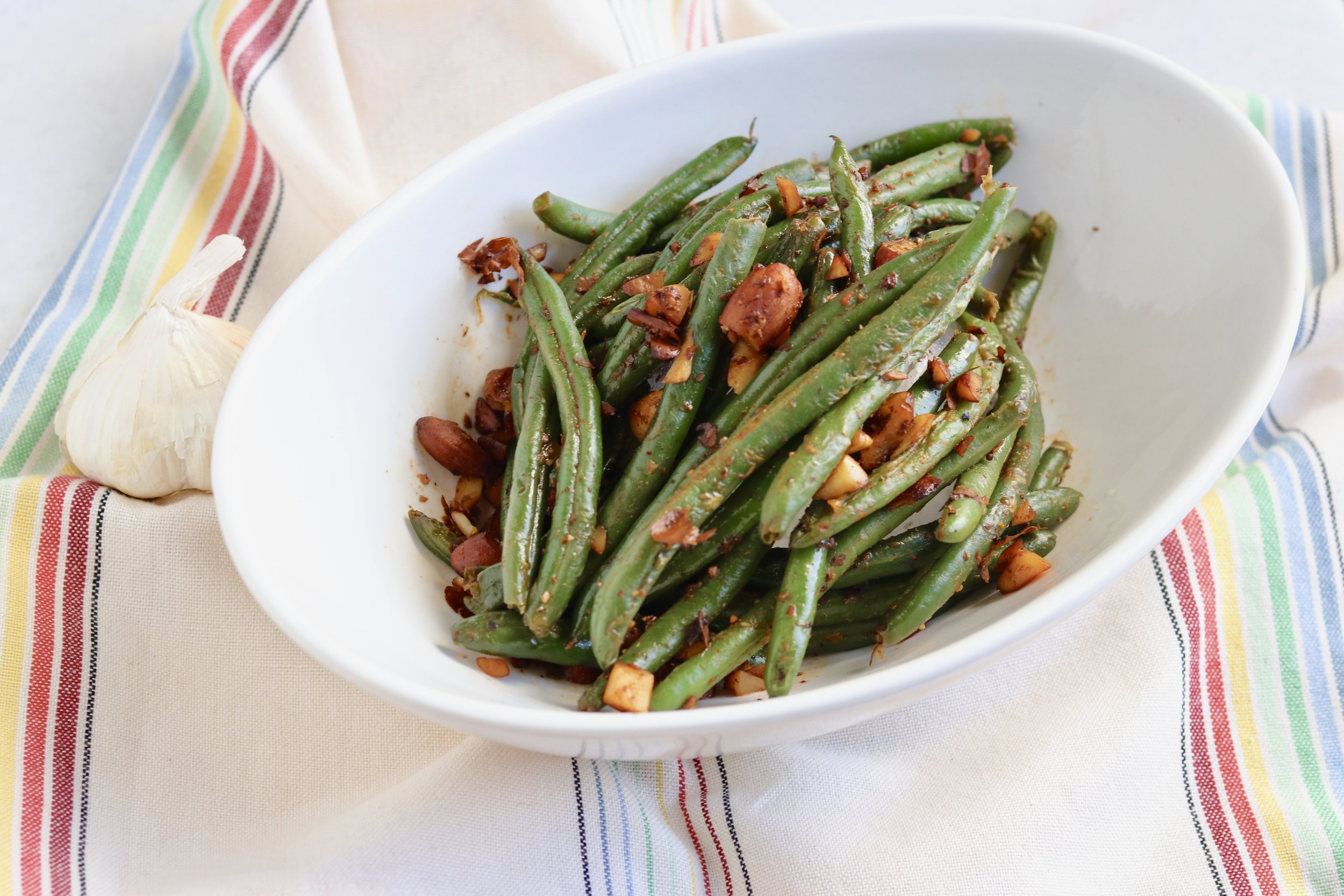 Garlic Almond Green Beans I'd Eat That Food