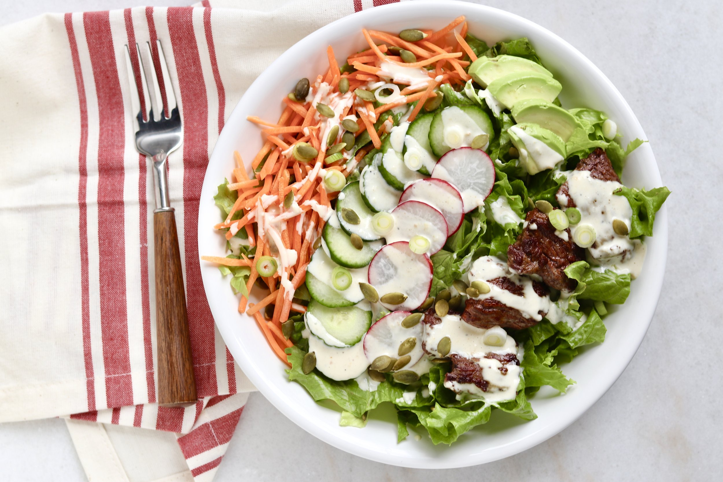Image result for Steak Salad With Creamy Dressing