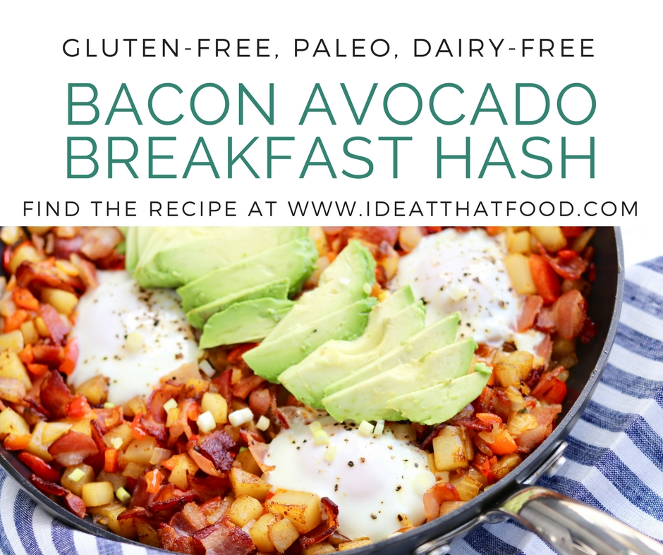 Bacon Avocado Breakfast Hash by I'd Eat That Food