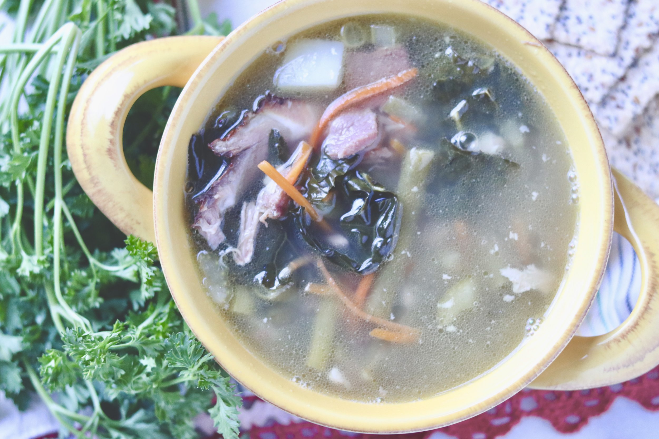 Instant Pot Hambone Soup by I'd Eat That Food