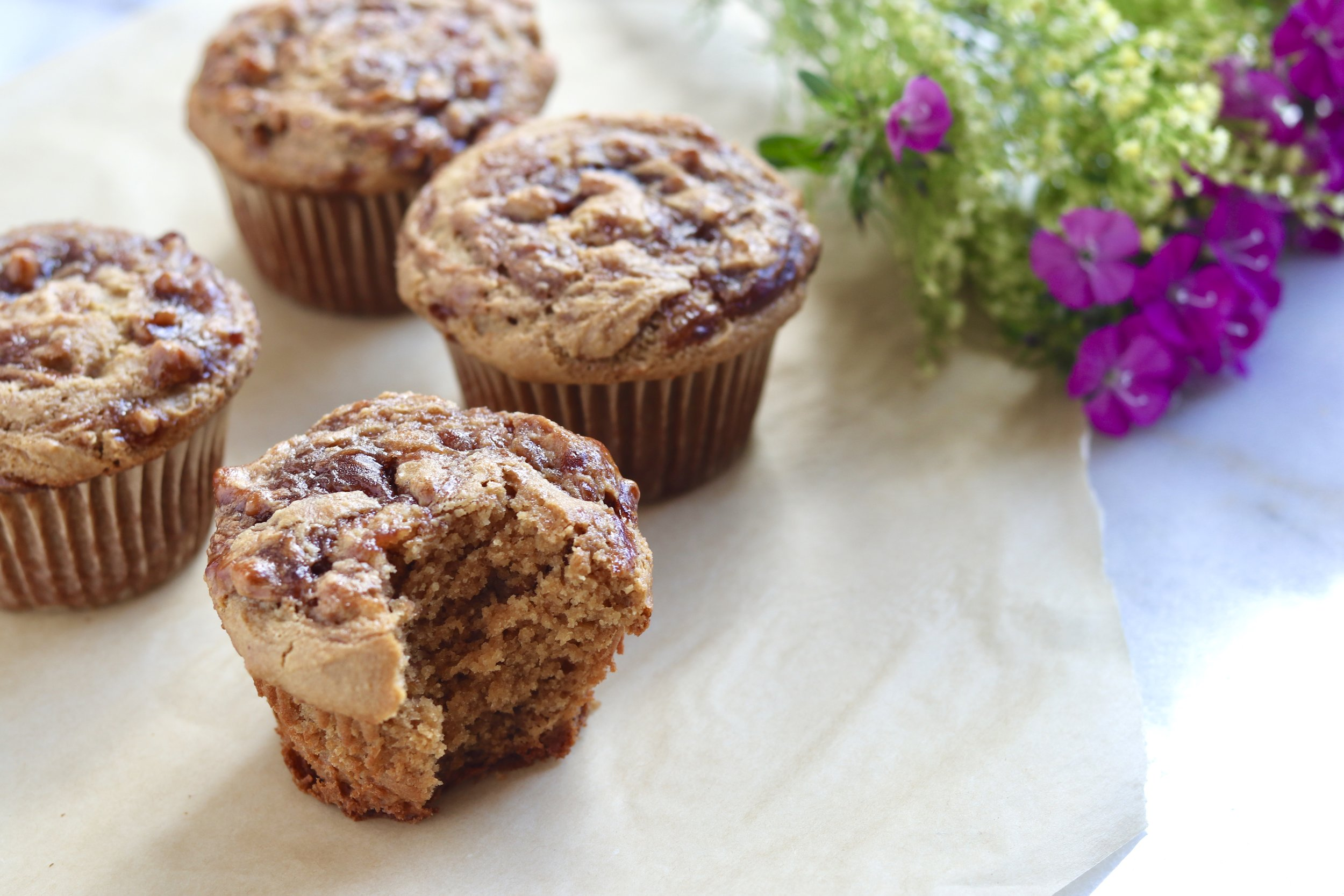 Grain-Free Peanut Butter and Jelly Muffins by I'd Eat That Food
