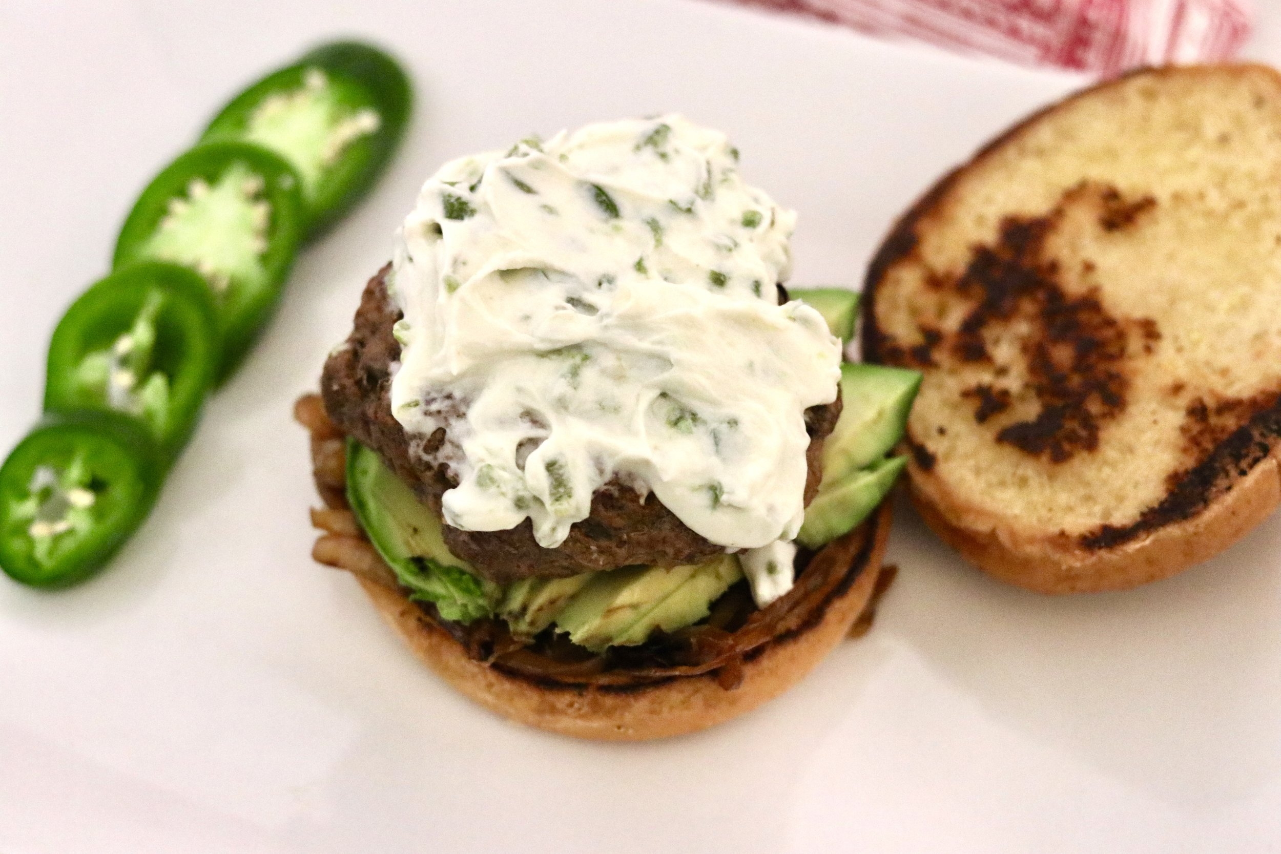 Honey Jalapeno Goat Cheese Burgers by I'd Eat That Food