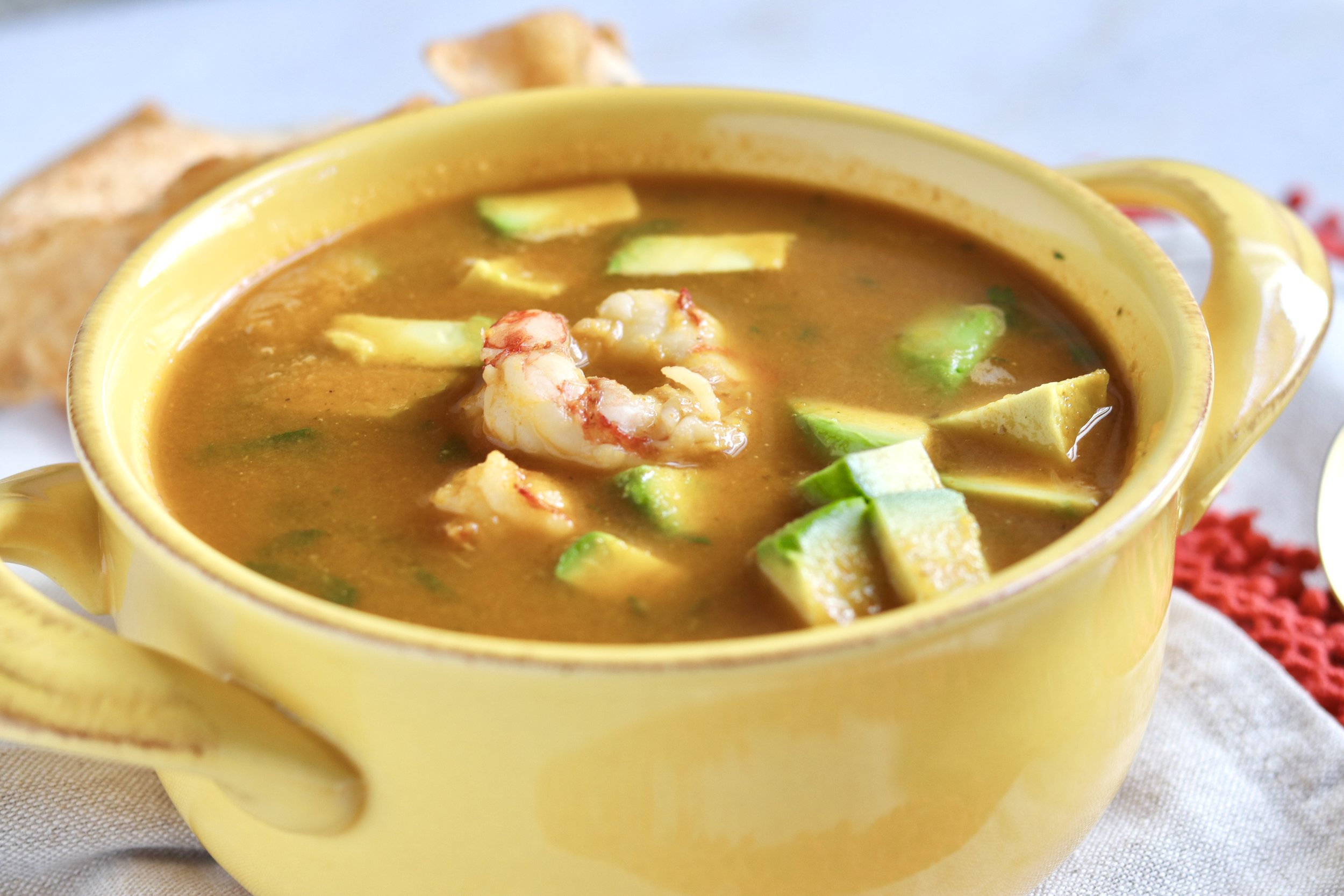 Spicy Shrimp Soup by I'd Eat That Food
