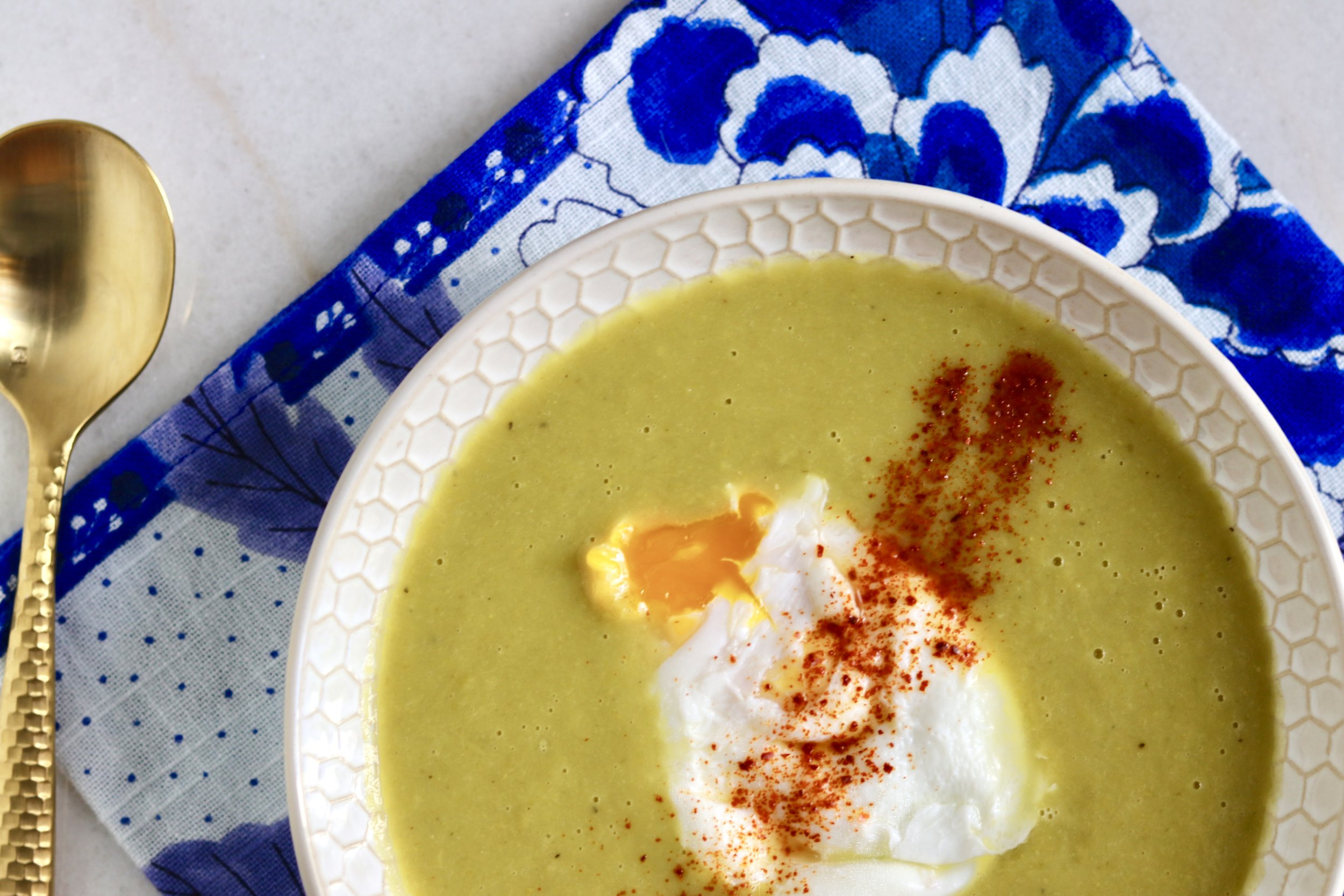 Instant Pot Lemon Asparagus Soup by I'd Eat That Food