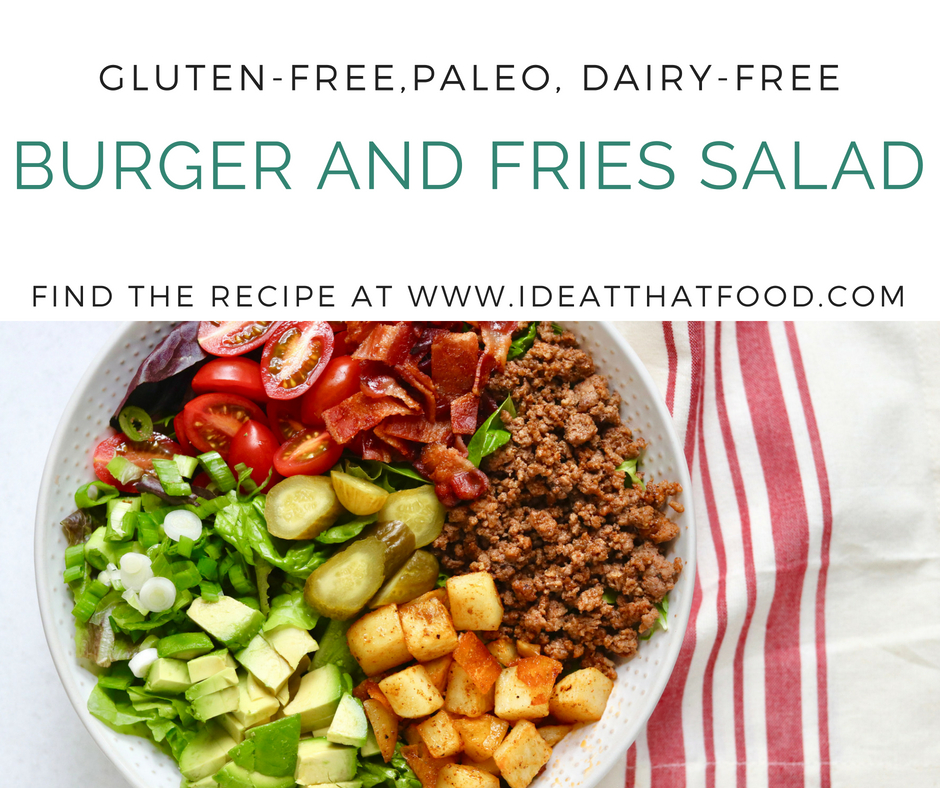 Burger and Fries Salad by I'd Eat That Food