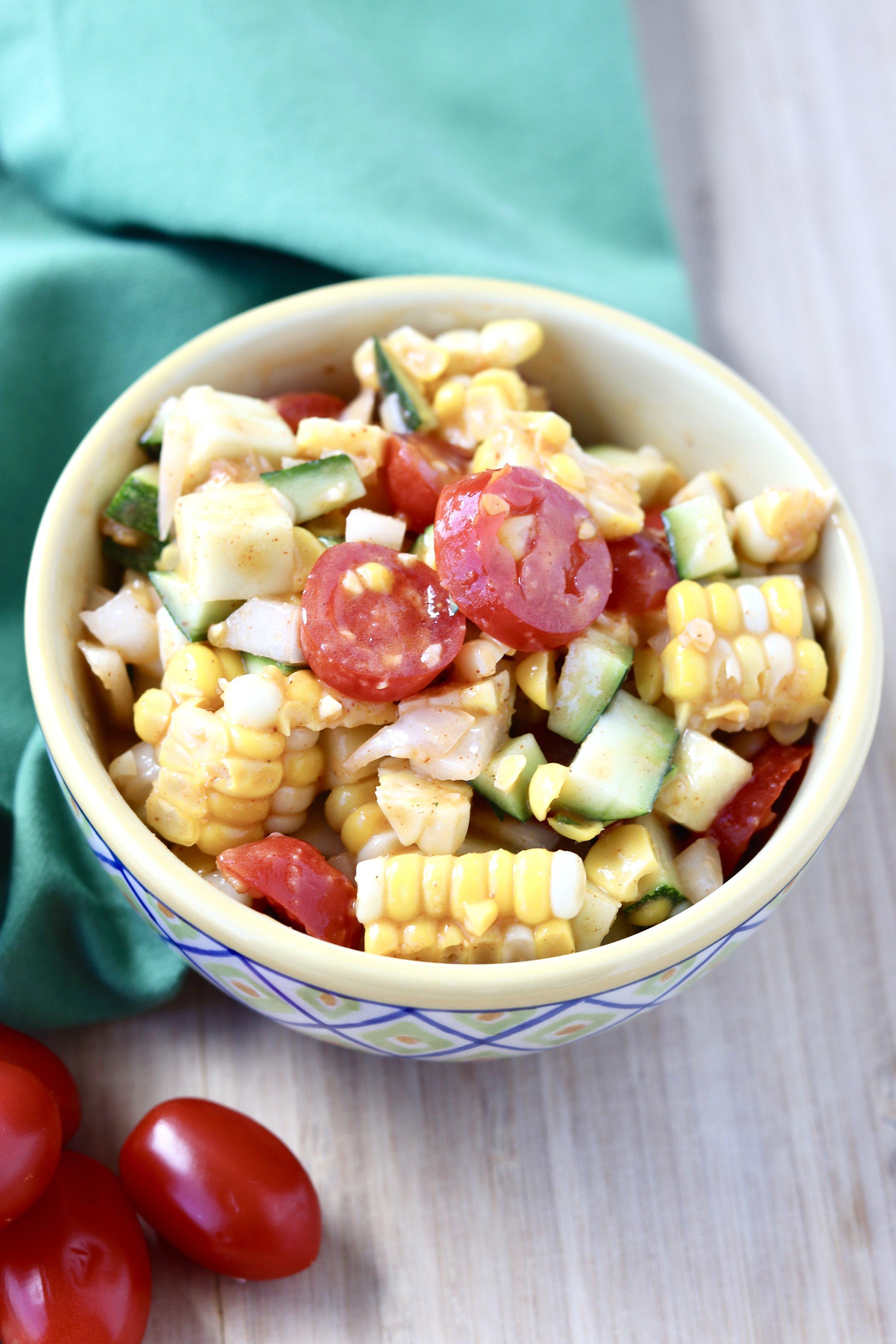 Zucchini Corn Salad by I'd Eat That Food