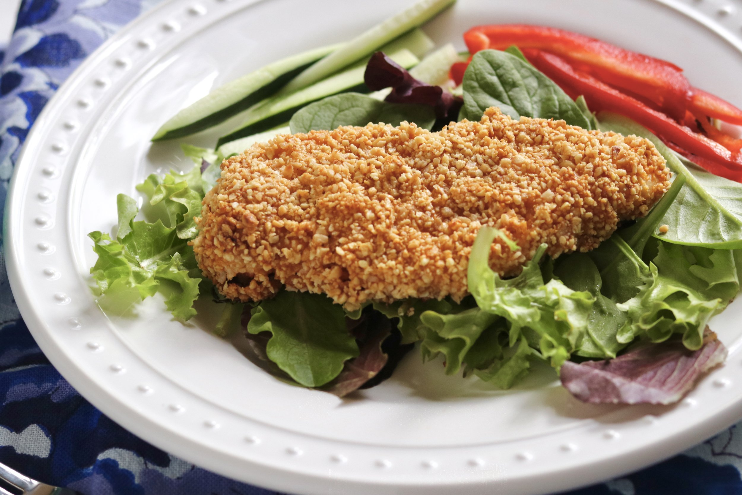 Peanut Crusted Thai Chicken by I'd Eat That Food