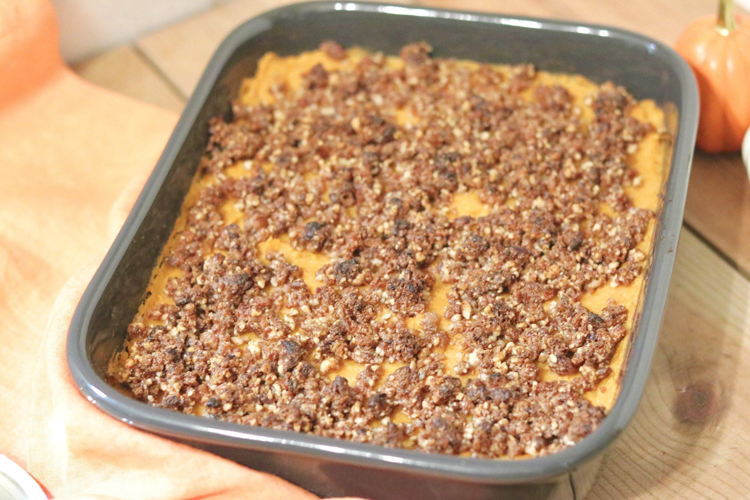 Sweet Potato Casserole by I'd Eat That Food