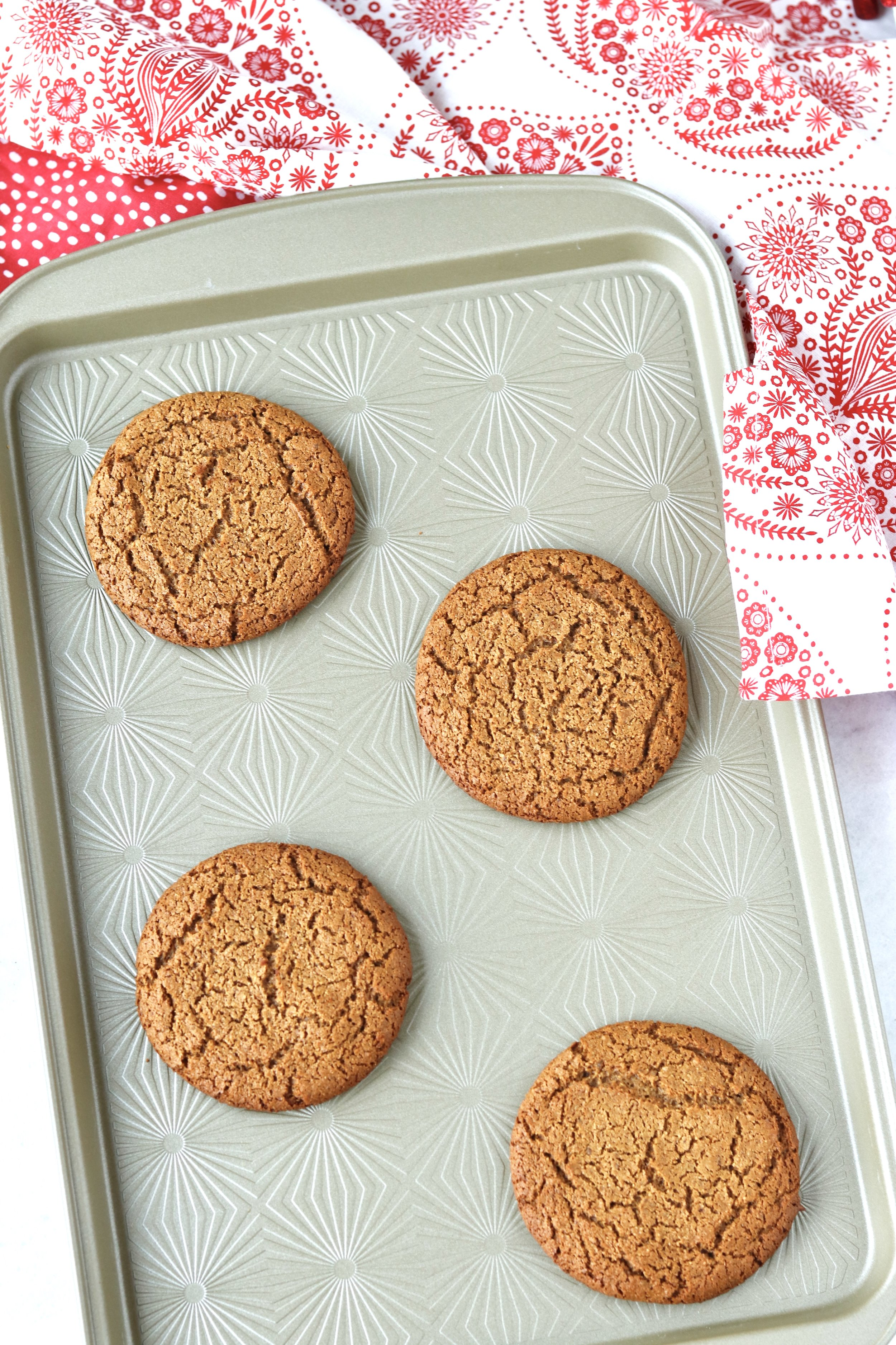 Giant Grain-Free Ginger Molasses Cookies by I'd Eat That Food