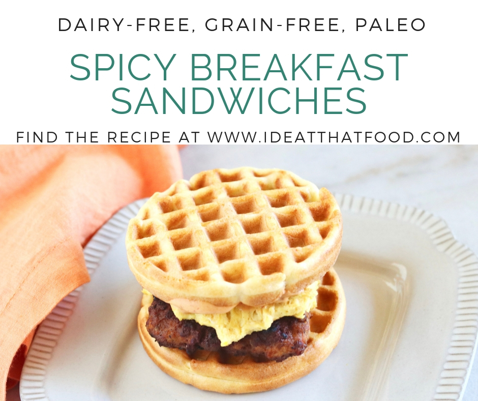 Spicy Breakfast Sandwiches by I'd Eat That Food