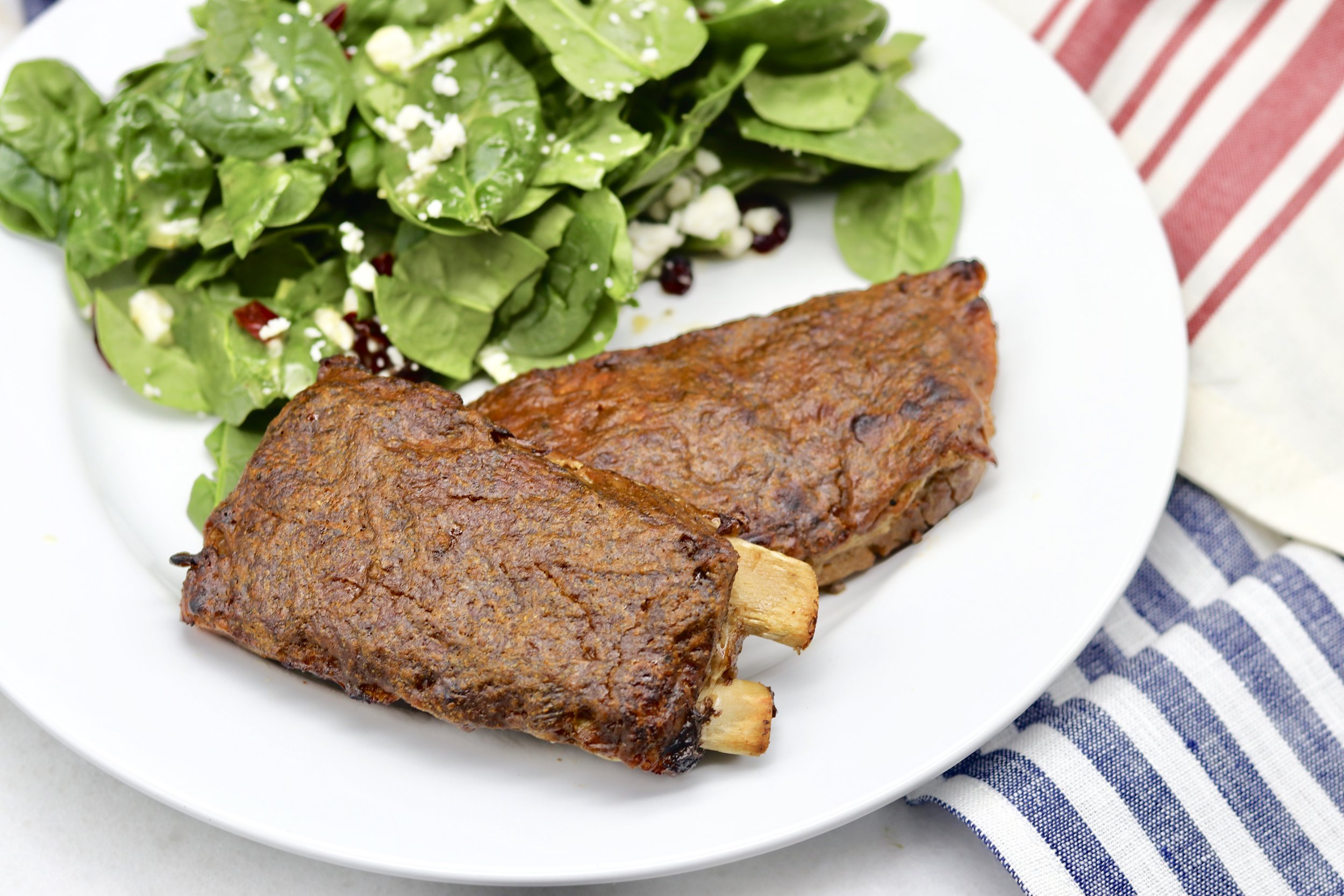 Tangy Mustard Keto Ribs by I'd Eat That Food