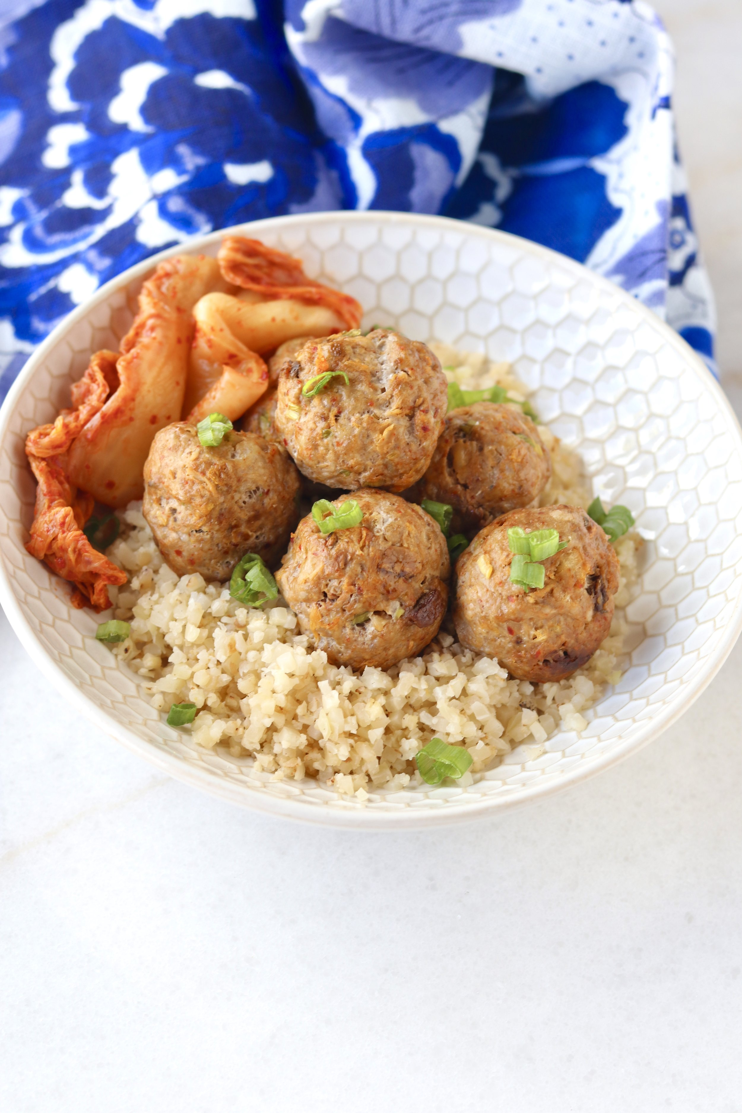 Kimchi Meatballs by I'd Eat That Food