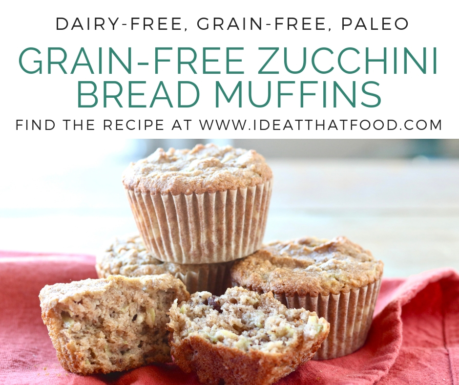 Grain-Free Zucchini Bread Muffins by I'd Eat That Food