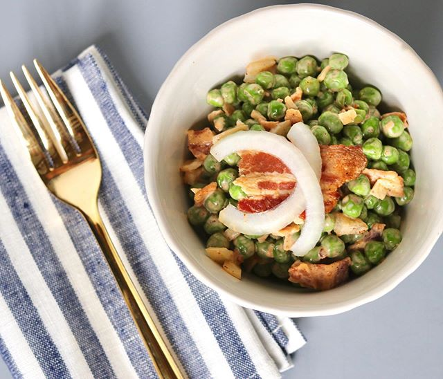 What's better for Memorial Day than a good ol' Classic Pea Salad? Nothing. It's perfect. And you can make it in advance so it's one less thing to worry about the day-of.  Grab the #recipe at the link in my profile.  #yum #memorialday #summer #bbq #nutritionaltherapist #nutritionaltherapy #bacon #peasalad #memorialdaybbq #memorialdayweekend #summerbbq #cookout #glutenfree #grainfree #dairyfree #paleo #primal #homemade #cook #foodprep