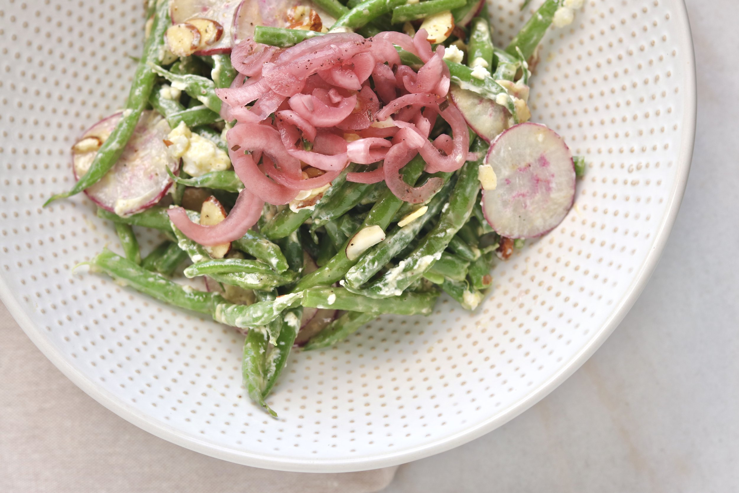 Cold Green Bean Salad by I'd Eat That Food