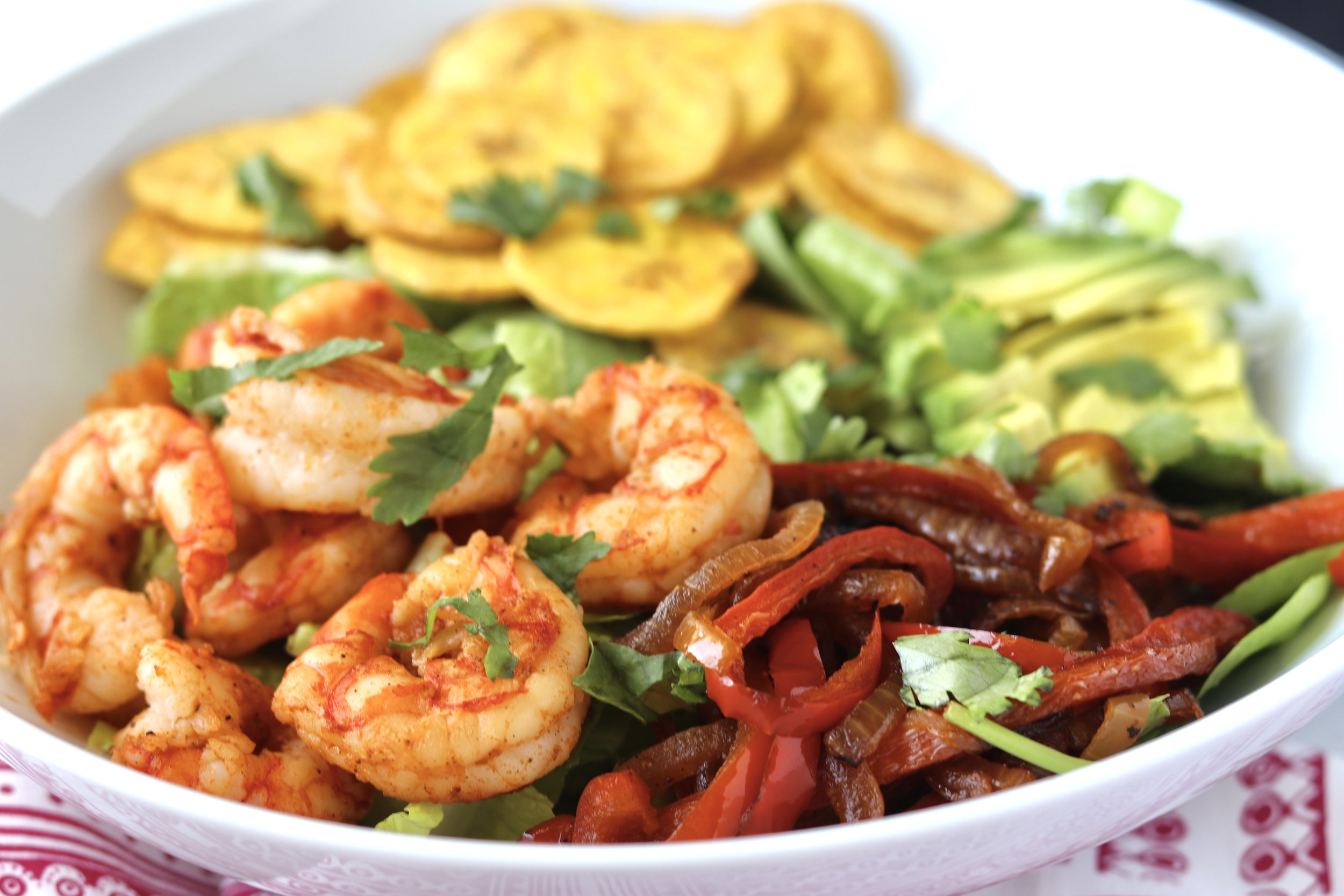 Shrimp Fajita Salad by I'd Eat That Food