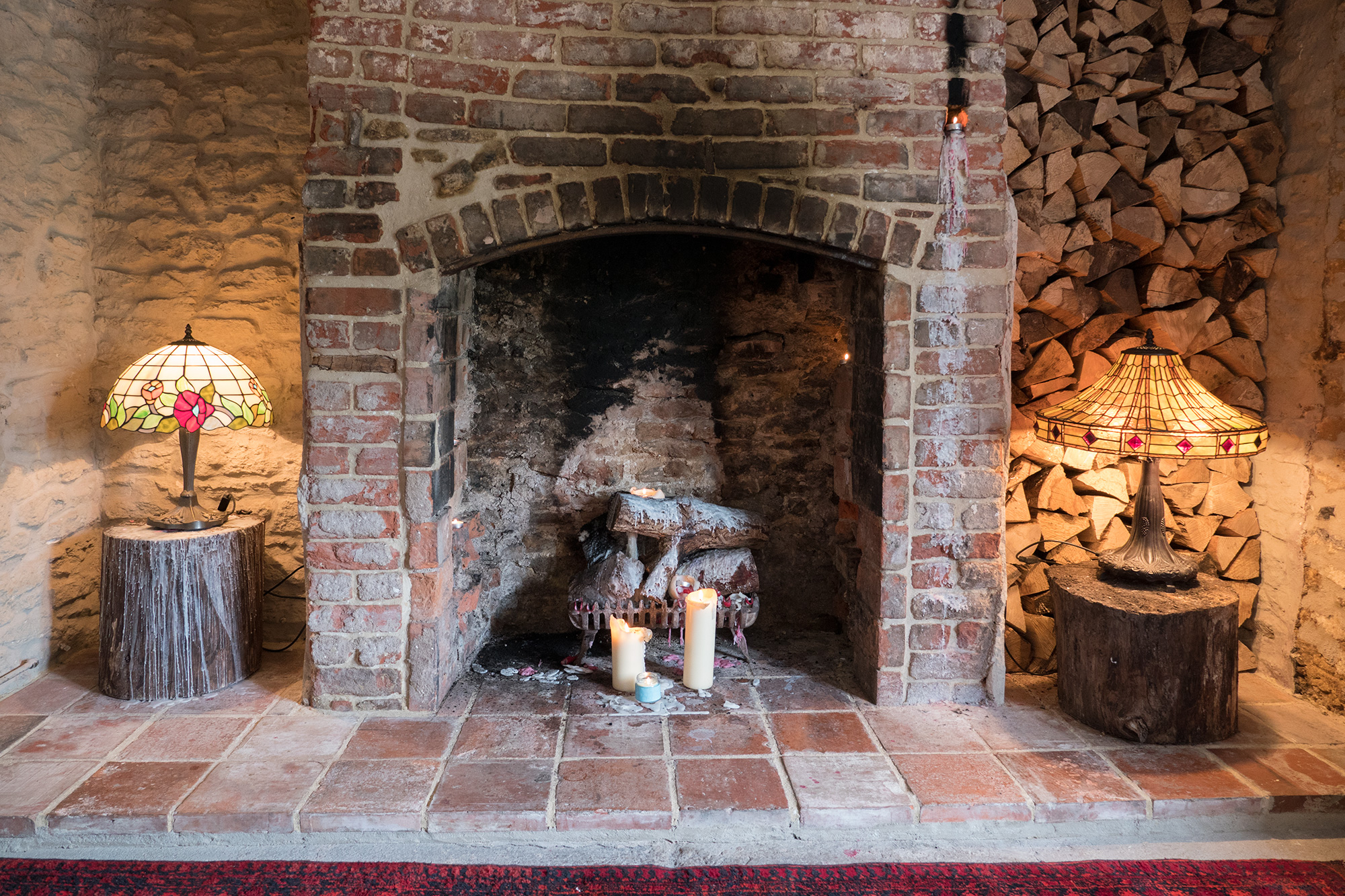 The magnificent original fireplace remained hidden for years but has now been revealed once more for all to enjoy