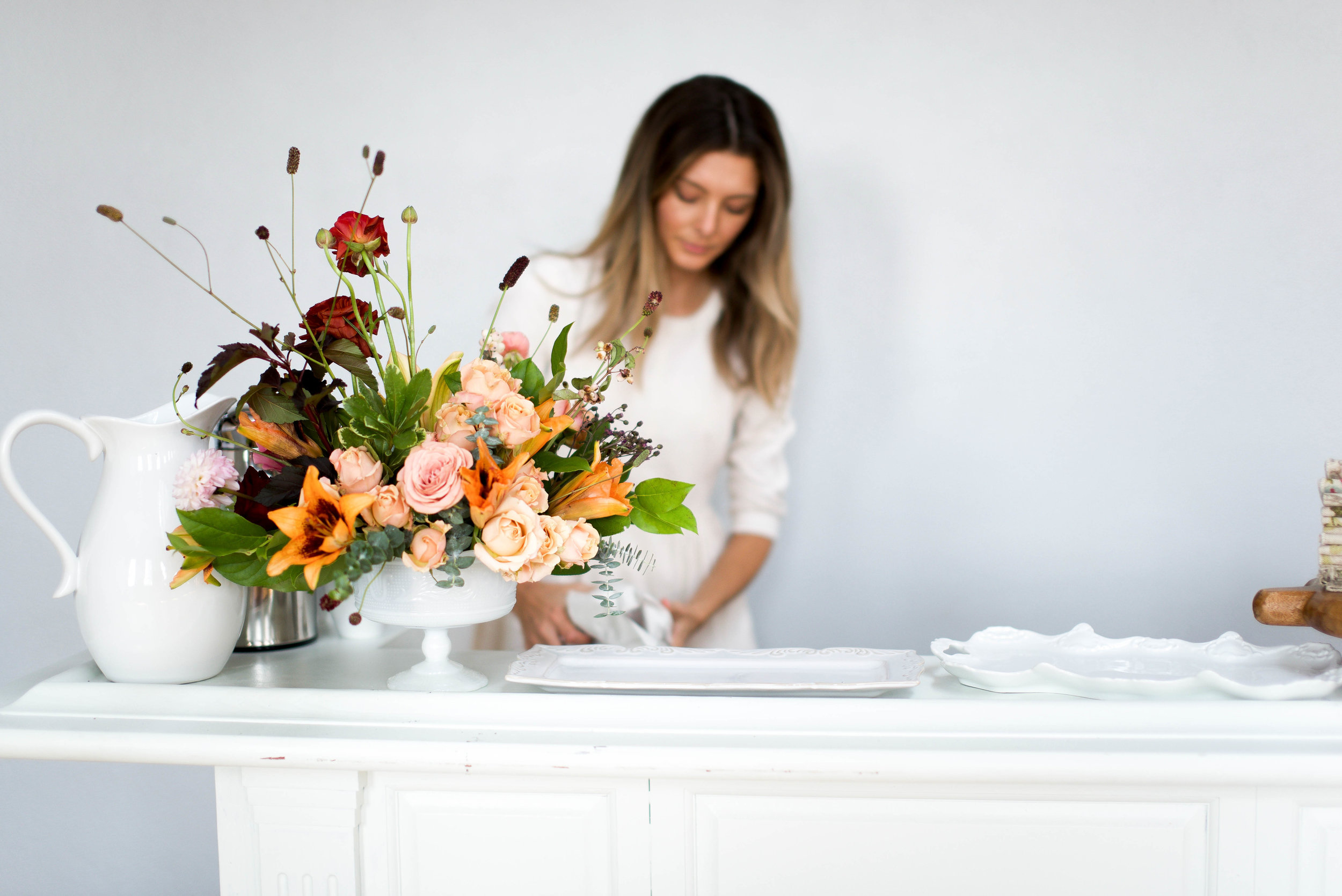 Cortney of  Linen and Rust  with beautiful styling for  Kindred Photography Workshop , Photo by  Kacey Gilpin