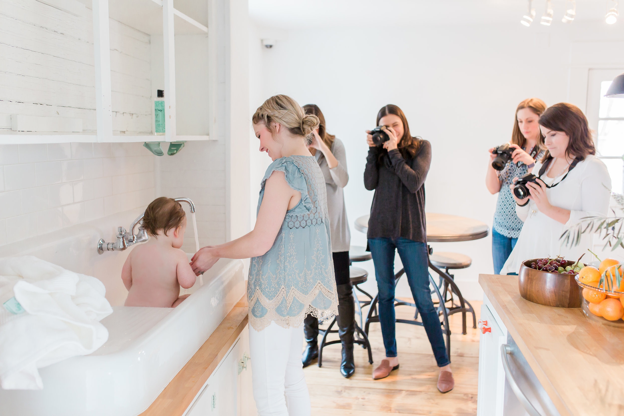 Moms and beginners practicing with their DSLR cameras at  Kindred Photography Workshops , Photo by  Hazel and Haze Photography