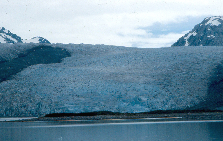 High suspended sediment may be produced naturally by glaciers.