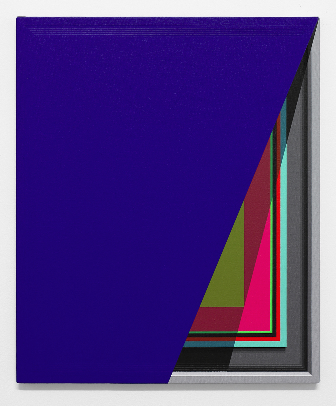 Severed Hue (Ultramarine)   2013  Acrylic on canvas  22 x 18 inches  (55.88 x 45.72 cm)