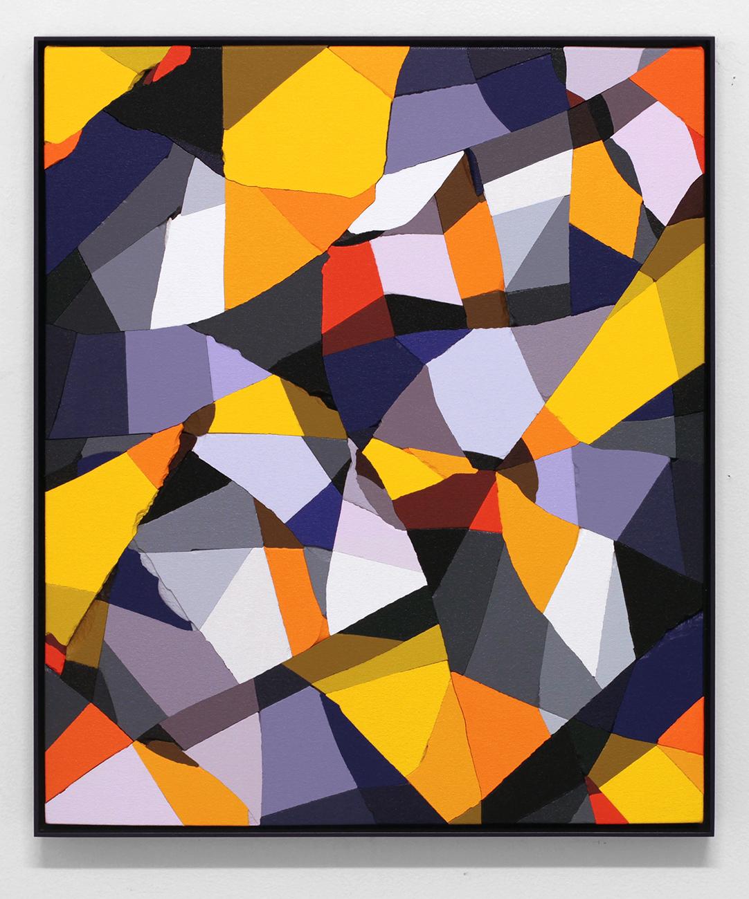 B.C. (Copernicus)   Acrylic on broken plaster  2017  22 x 18 inches  (55.88 x 45.72 cm)