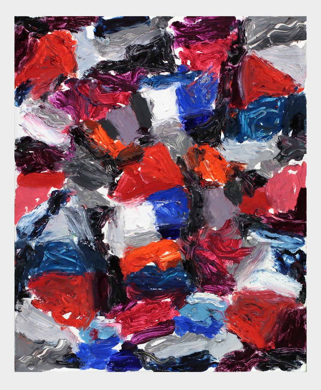 Drawing B.C. (Night Swim)   Oil pastel on board  2017  10 x 8 inches  (25.4 x 20.32 cm)