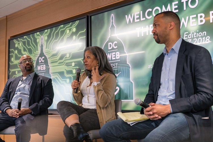 Brian Woolfolk, Lita Rosario, Chris Lewis (Creative Control Panel)