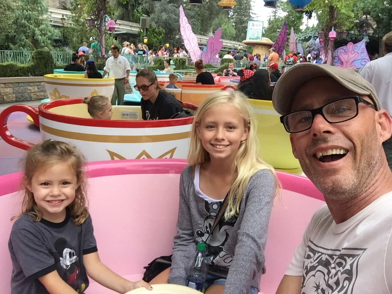 Recent trip to Disneyland on the tea cups (ironic?)
