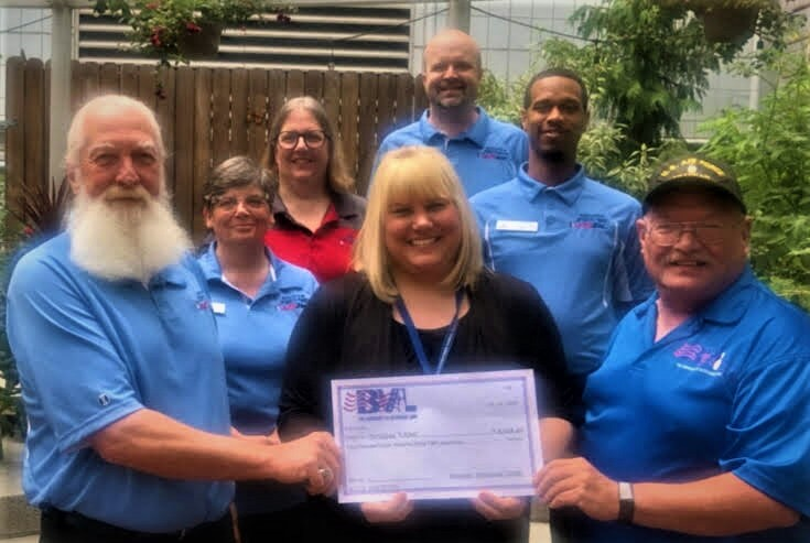 BVL Charity Fundraiser 2018-2019 - We presented a check to the VA Hospital from the donation we collected during the 2018-2019 season. In addition to the $5,748.40 donated to the VA, we donated $1,000 to the VFW for the purchase of Debit cards to be given to Veterans in need of transportation to medical appointments and employment interviews. Your charity donations, as promised, stayed local, to help our local Veterans. Thank you!