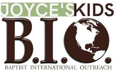 Joyce's Kids is ministry of  Baptist International Outreach , a registered 501C3. All donations are given through the BIO office and is tax deductible. You will be issued a receipt.