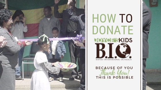 Different ways you can support Joyce's Kids …