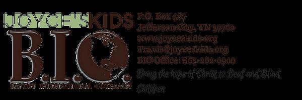 P.O. Box 587Jefferson City, TN 37760www.joyceskids.orgTravis@joyceskids.orgTravis Dykes_ 678-267-5180BIO Office_ 865-262-0900.png