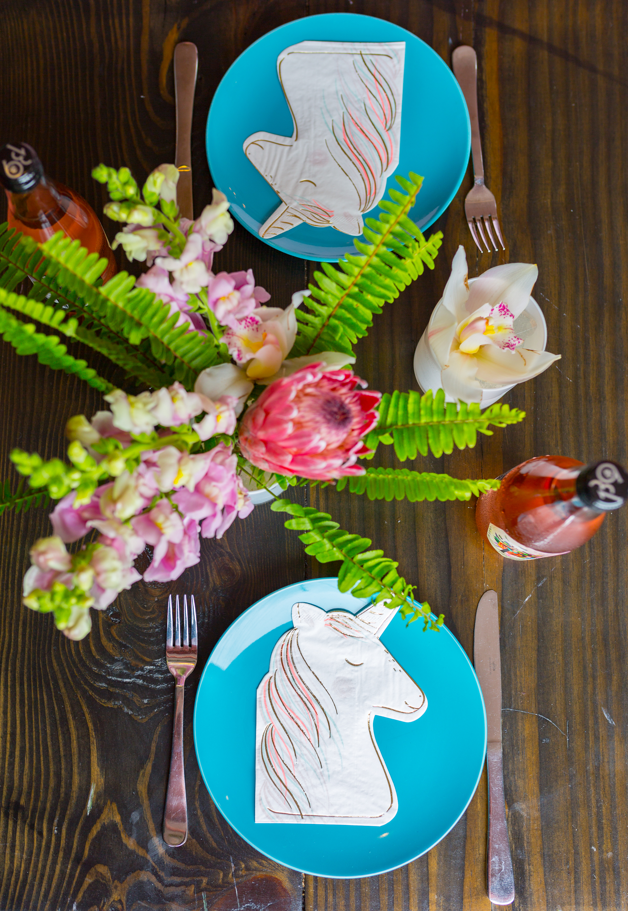 Unicorn party place setting