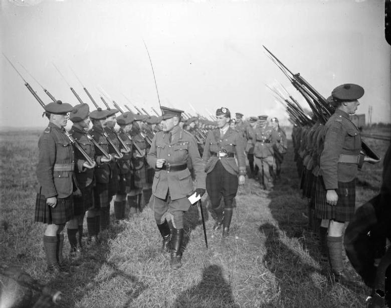 Haig inspecting his forces