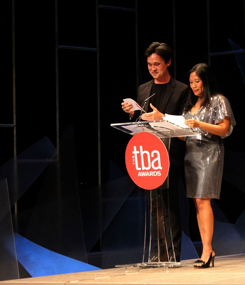 Ferocious Lotus founders Leon Goertzen and Lily Tung Crystal at the 2014 TBA Awards