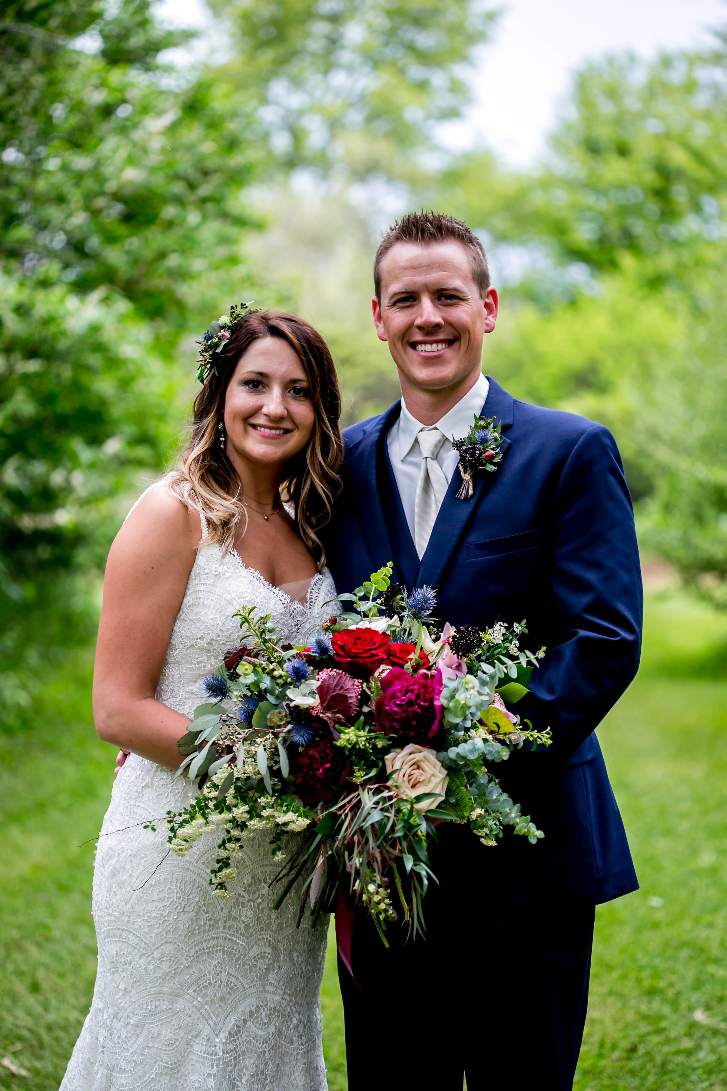 """Ellie + Josh - """"We can't thank Maggie enough for her beautiful work on our flowers! Everything turned out better than we could have imagined thanks to her talent!"""" - Ellie S.[Michelle White Photography - 2018]"""