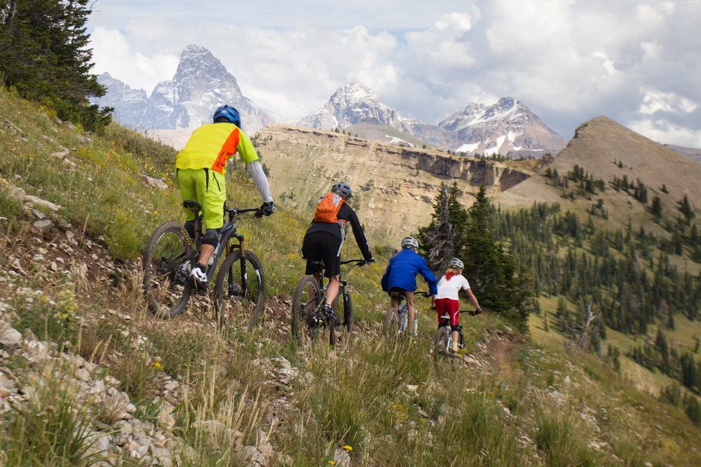 Grand Targhee  - Targhee as over 2,200 vertical feet of lift-serviced downhill and 47-plus miles of multi-use trails for cross country and downhill mountain biking. The Grand Targhee Bike Park offers every style of riding for every level of mountain bike rider: Gentle, banked cruisers; tight and twisty singletrack cross country; gnarly, rock strewn downhill; drop offs; and much more.
