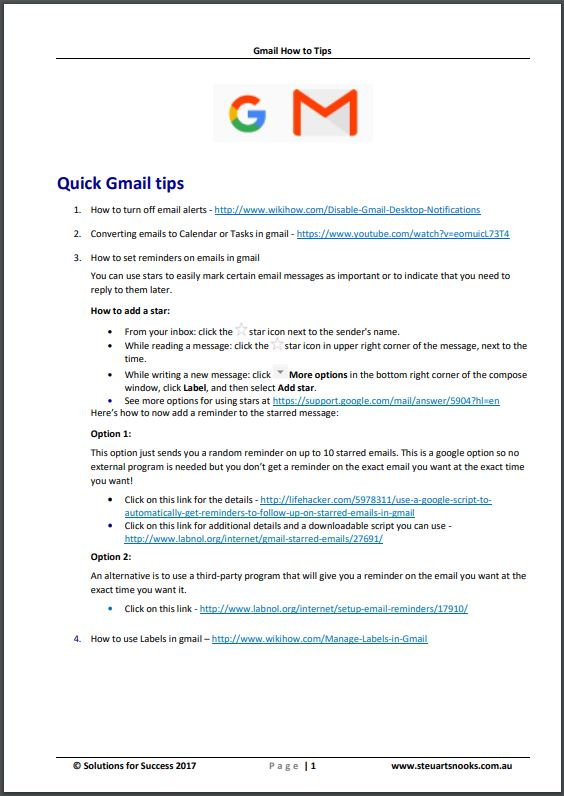 Gmail - 'How To' tips for Tasks and Calendar