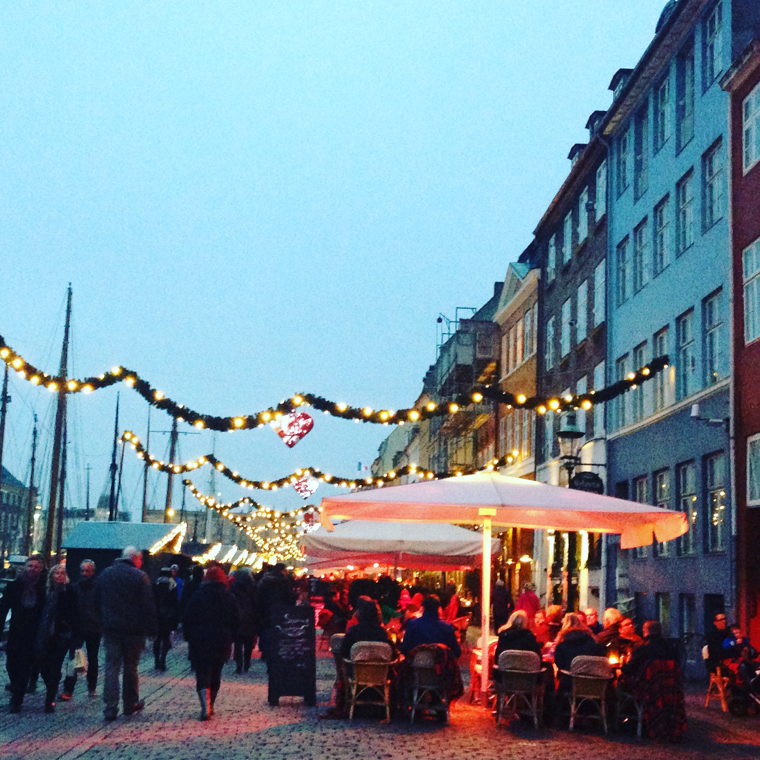 Copenhagen at Christmas- a picture from our honeymoon I felt was pure hygge