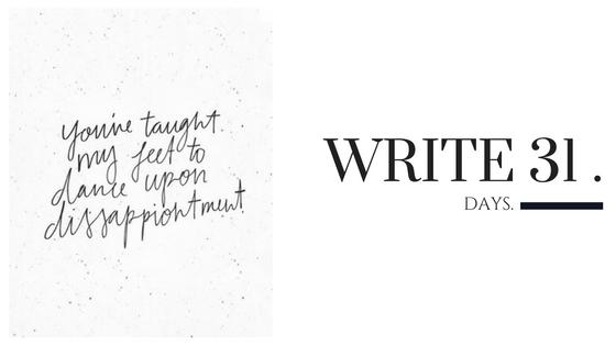 Kara Nothnagel - Write 31 Days - Dance
