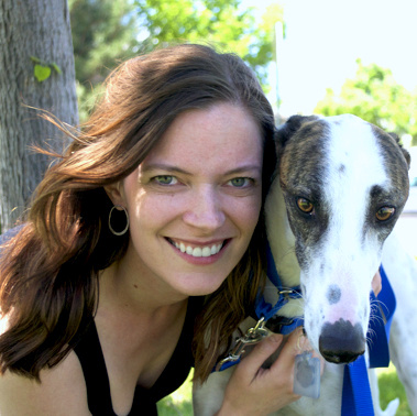 Me and my greyhound, walker