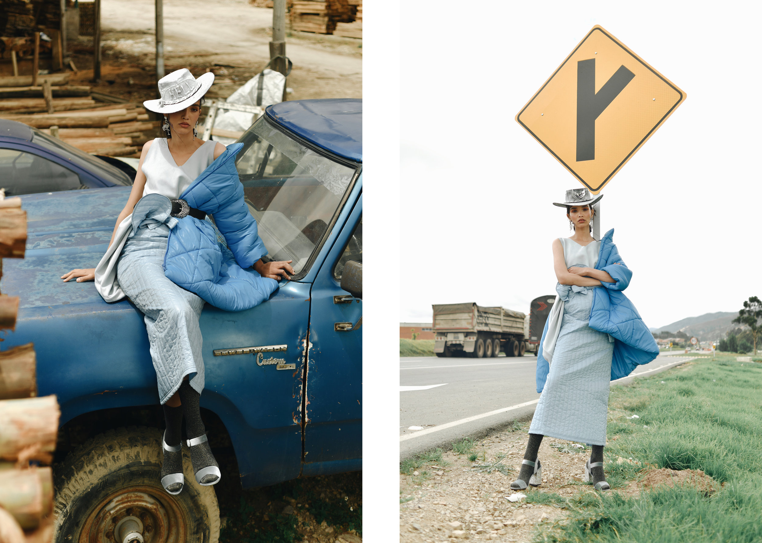 Dress. Pura - Skirt. MLR - Jacket. Sophia Lerner; everything at Casa Precis.