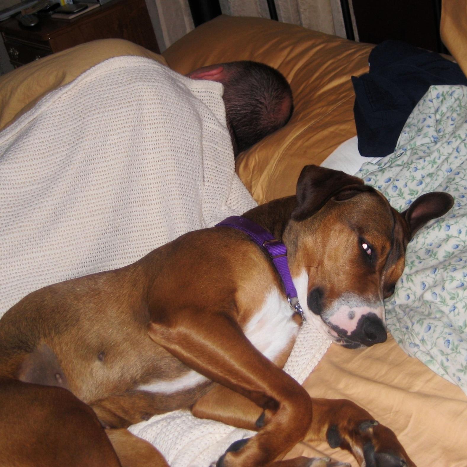 She slept a human!