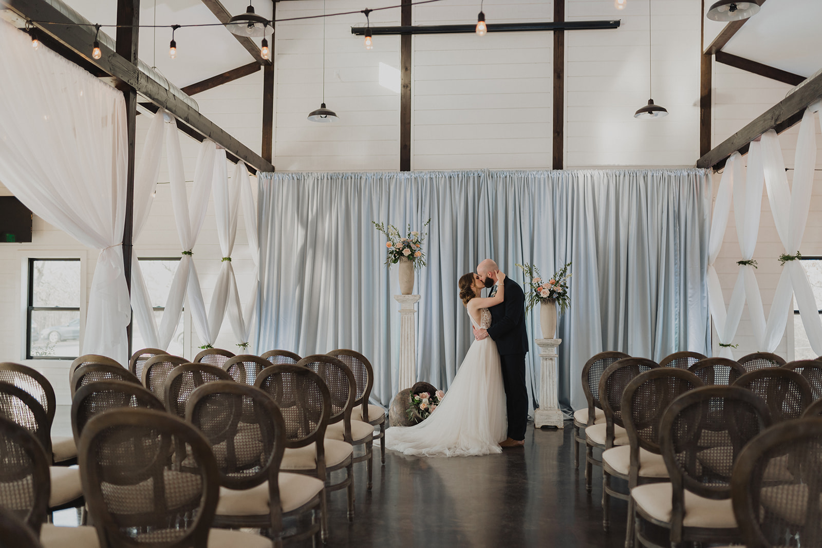 Indoor Ceremony Tulsa Wedding Venue Dream Point Ranch 24.jpg