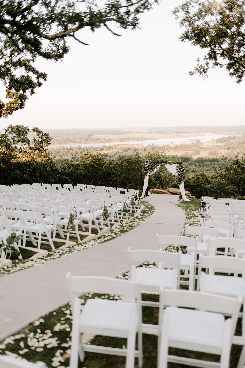 Outdoor Ceremony at Tulsa White Barn Wedding Venue — Dream ...