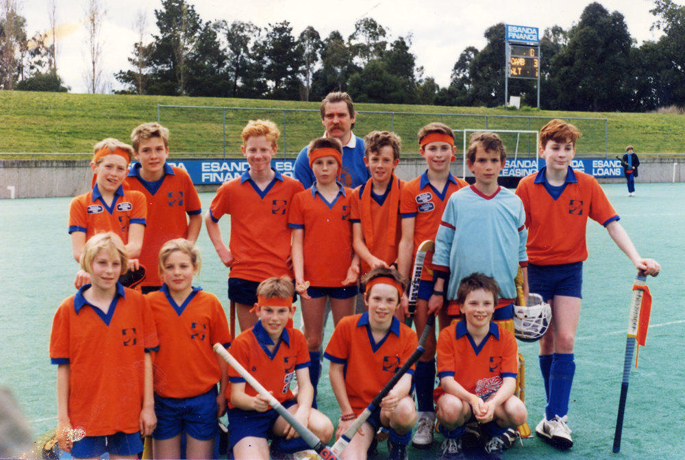 Jesse Foster in 1989 - back row second left