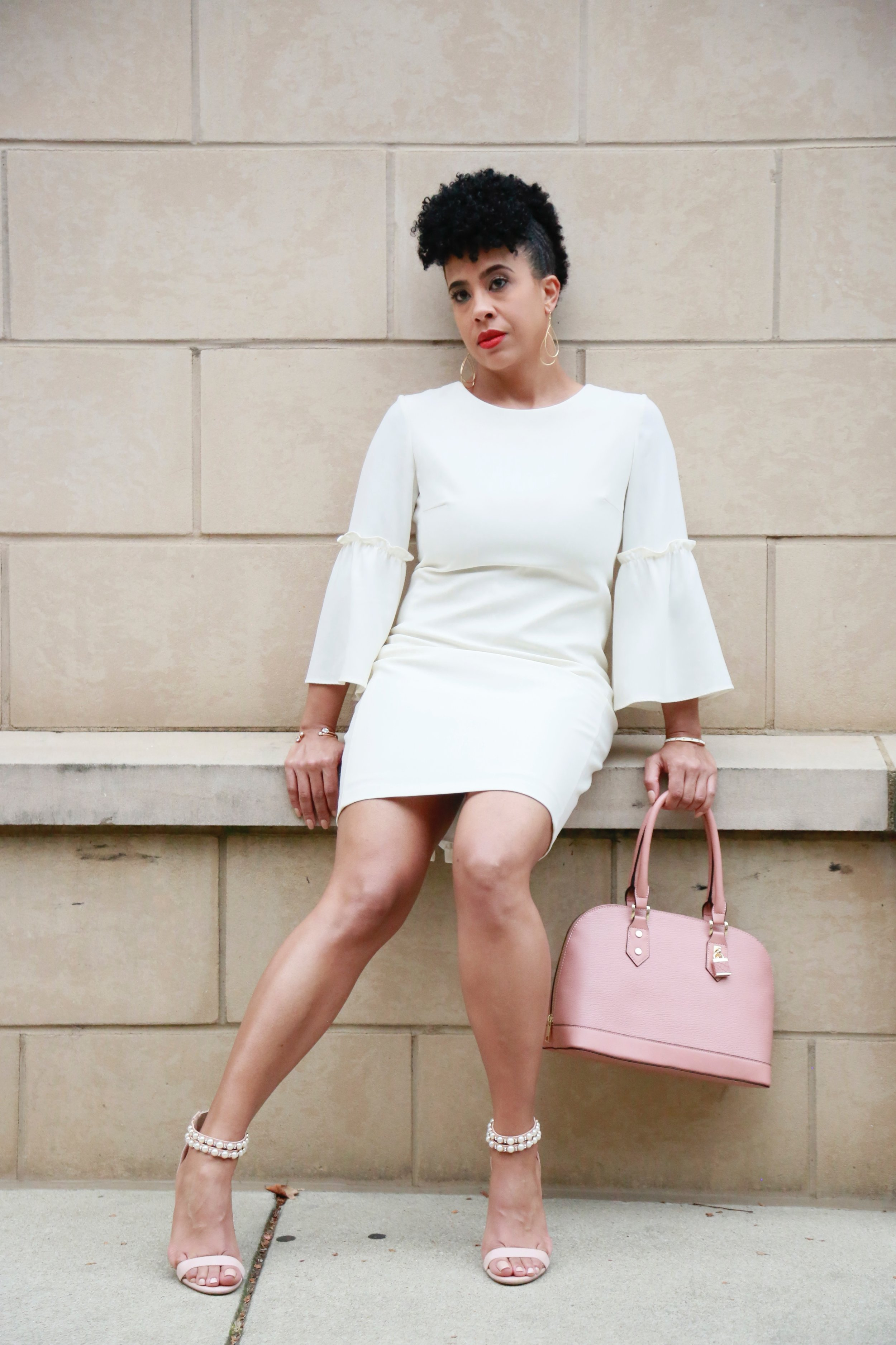 Dress: Rent the Runway , Shoes: Jessica Simpson , Purse: Target