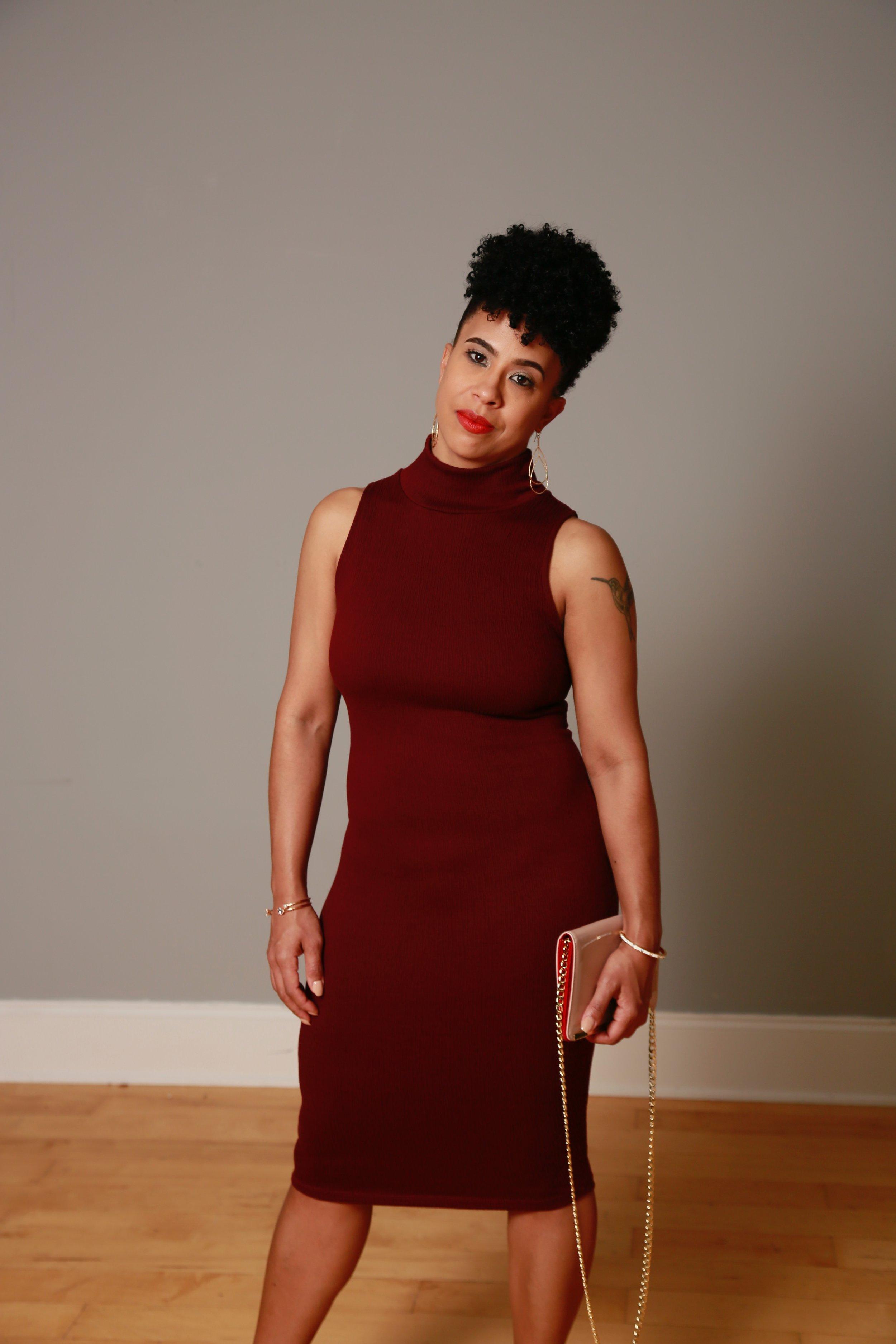Dress:  Similar Stye   Clutch:  Target $18.99