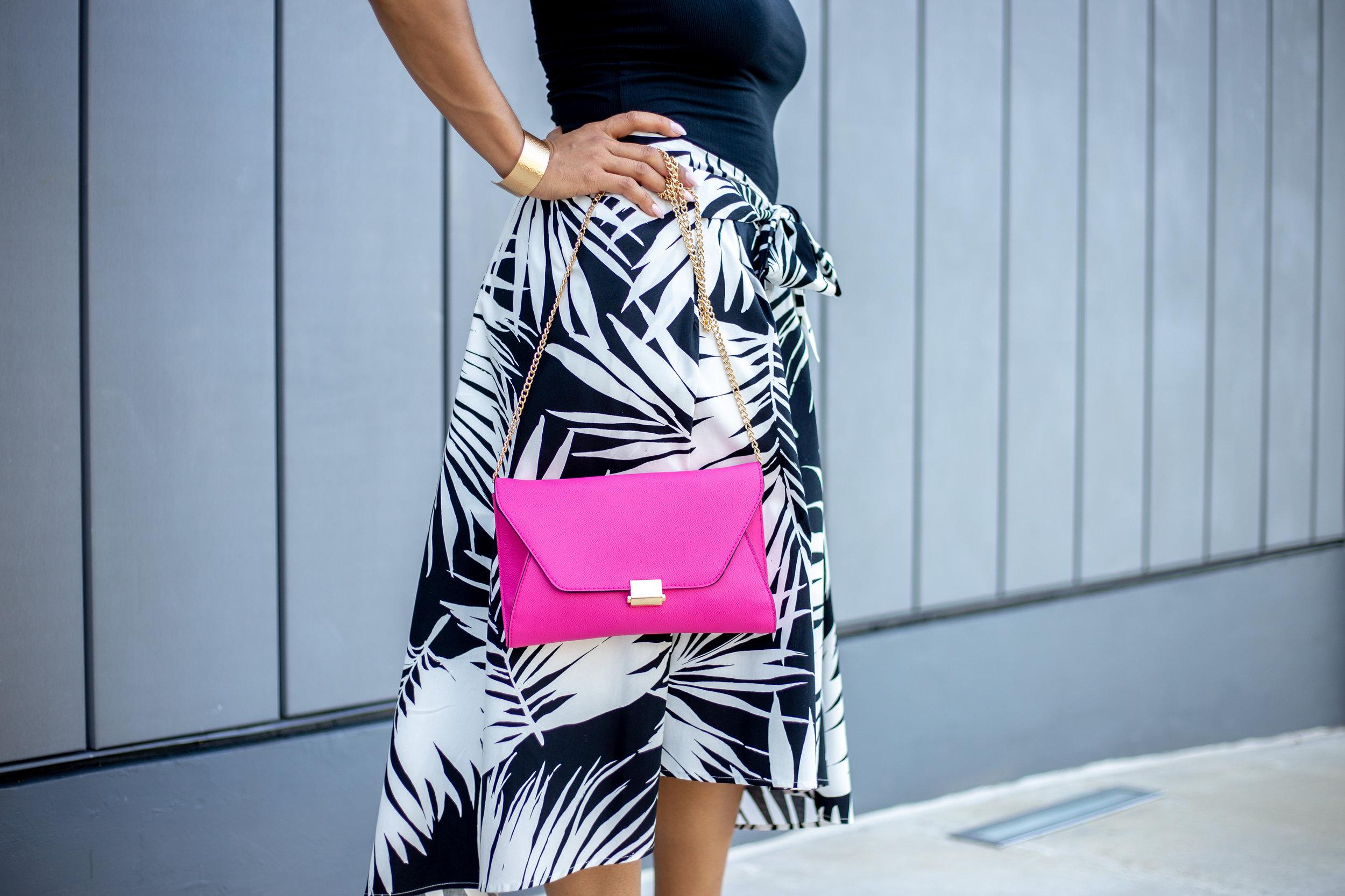 Women's Palm Print Tie Front Midi Skirt_who what wear.jpg